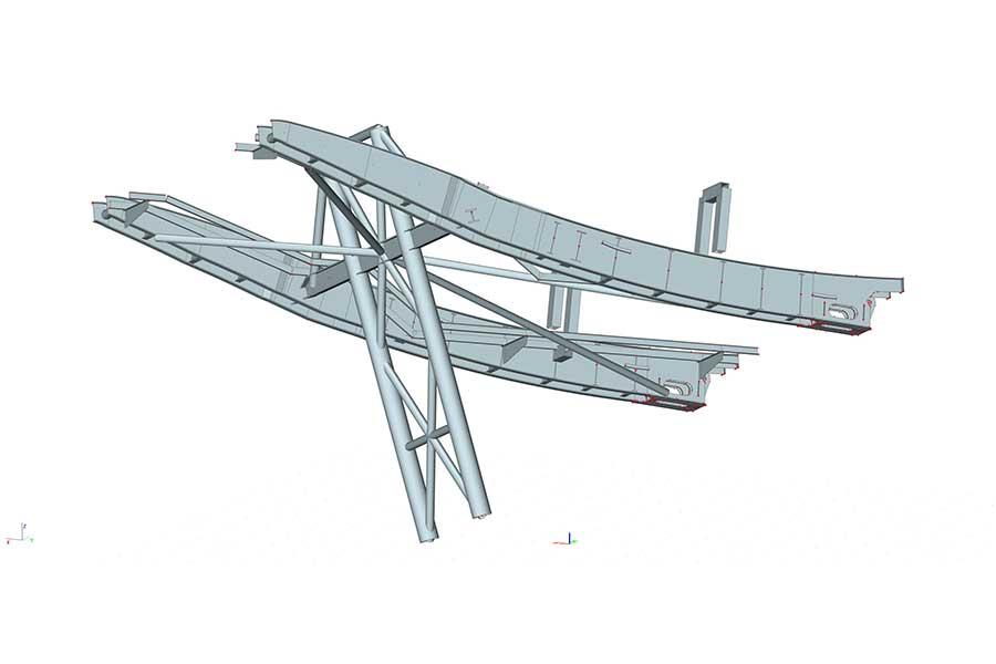 Penkenbahn Dimensionierung Seilbahnstütze