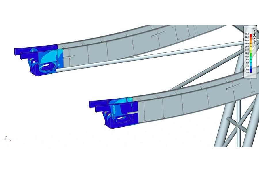 Statik-Dimensionierung Seilbahnstütze