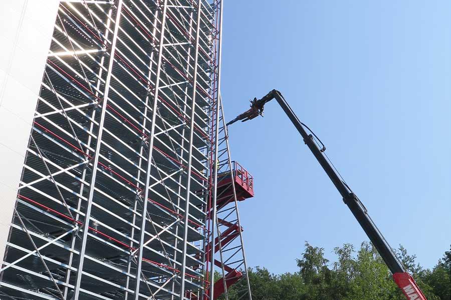 SCIA Engineer Statiksoftware Berechnung Stahlkonstruktion für Lagergebäude
