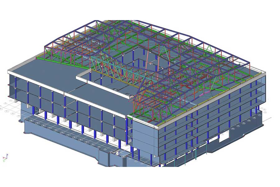 3D Gebäudemodell Statikberechnung
