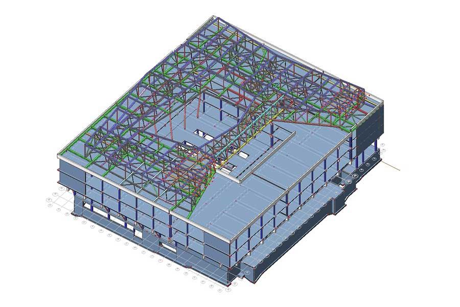 Gebäudekonstruktion mit neuem Dach