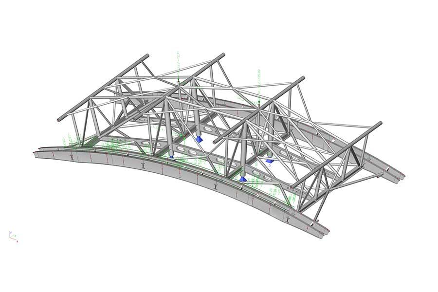 3D FEM Dimensionierung Berechnung Seilbahnstütze