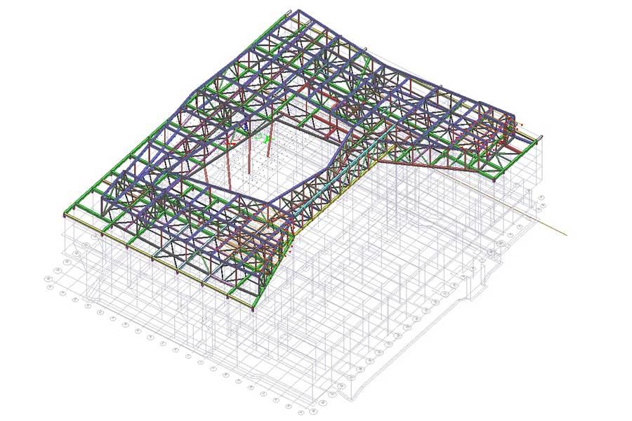 Dachkonstruktion Dimensionierung Statik SCIA Engineer