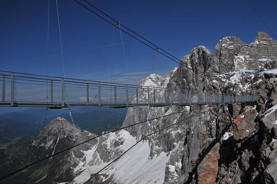 SCIA Referenz - Stahlkonstruktion Hängebrücke am Dachstein