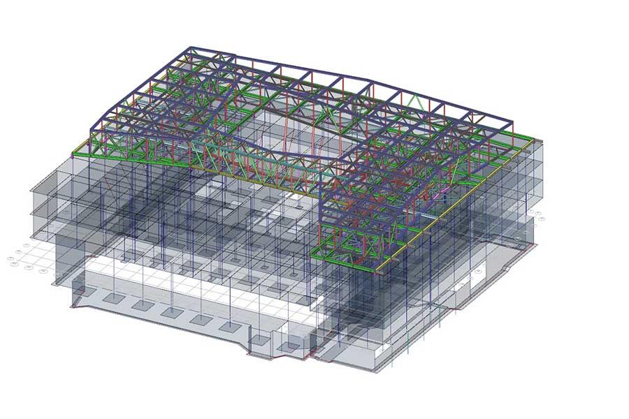 3D Modell Dachkonstruktion Statiksoftware