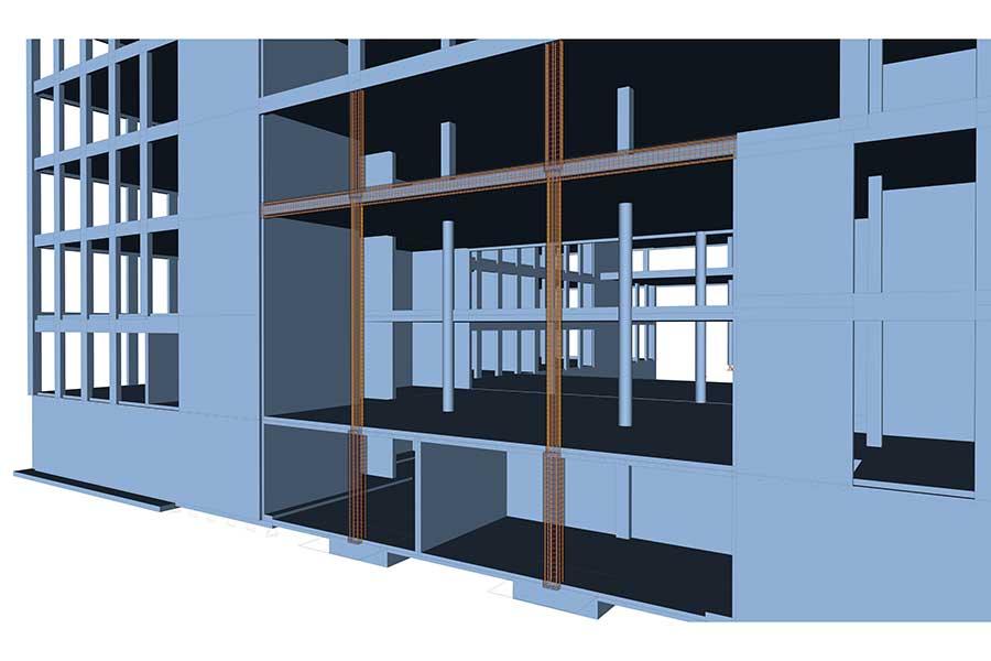 SCIA Engineer - Fassade Bewehrung 3D Modell