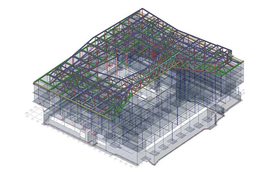Statik-Berechnung Dachkonstruktion mit SCIA Engineer