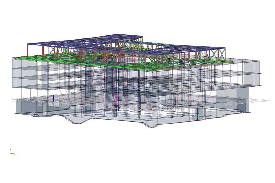Dachkonstruktion Berechnung Bauelemente mit Statisksoftware SCIA Engineer