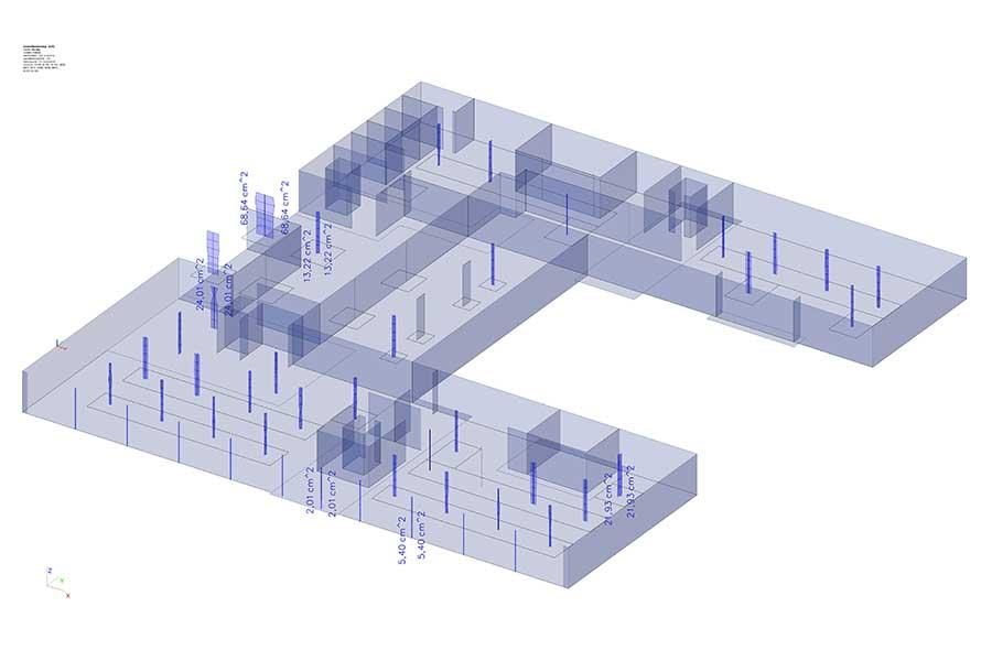 SCIA Engineer - Gebäudekonstruktion - Dimensionierung Geschoss-Stützen
