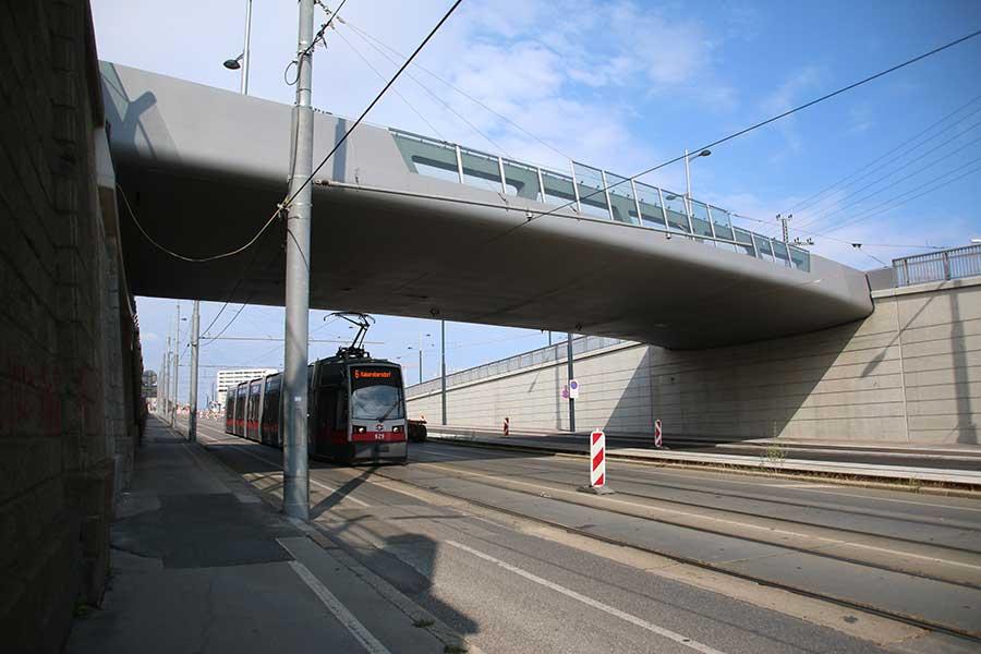 SCIA Statiksoftware - Berechnung Bauelemente für Kempelenbrücke, Wien