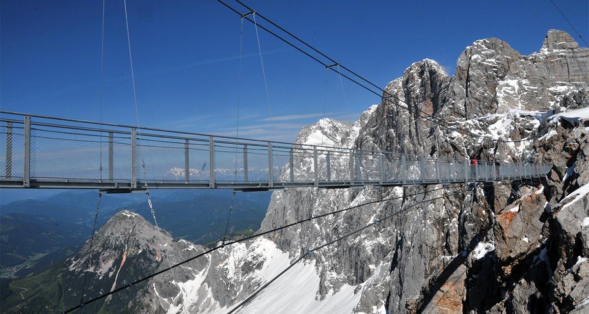 SCIA Statiksoftware - Referenz - Stahlbrücke am Dachstein