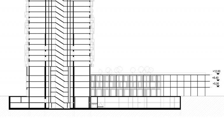 SCIA Statiksoftware - Bauwerksplanung Hochhaus The Marks Wien