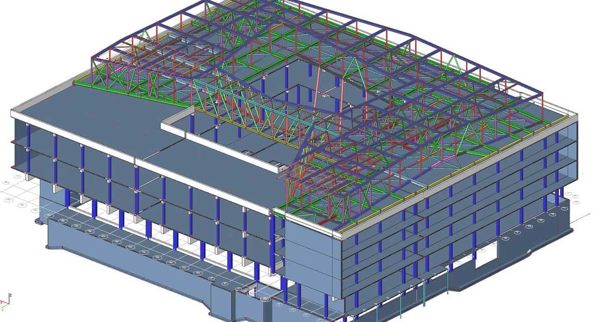 SCIA Statiksoftware - Dimensionierung und Planung Dachkonstruktion Ferrarischule Innsbruck