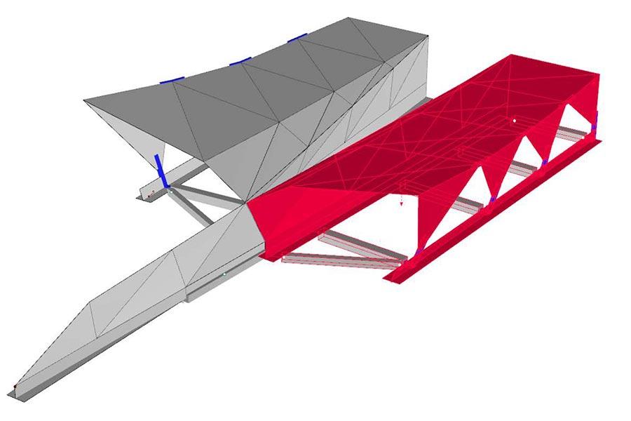 SCIA Statiksoftware - Dimensionierung Lastverteilung Portal Gleinalmtunnel A9