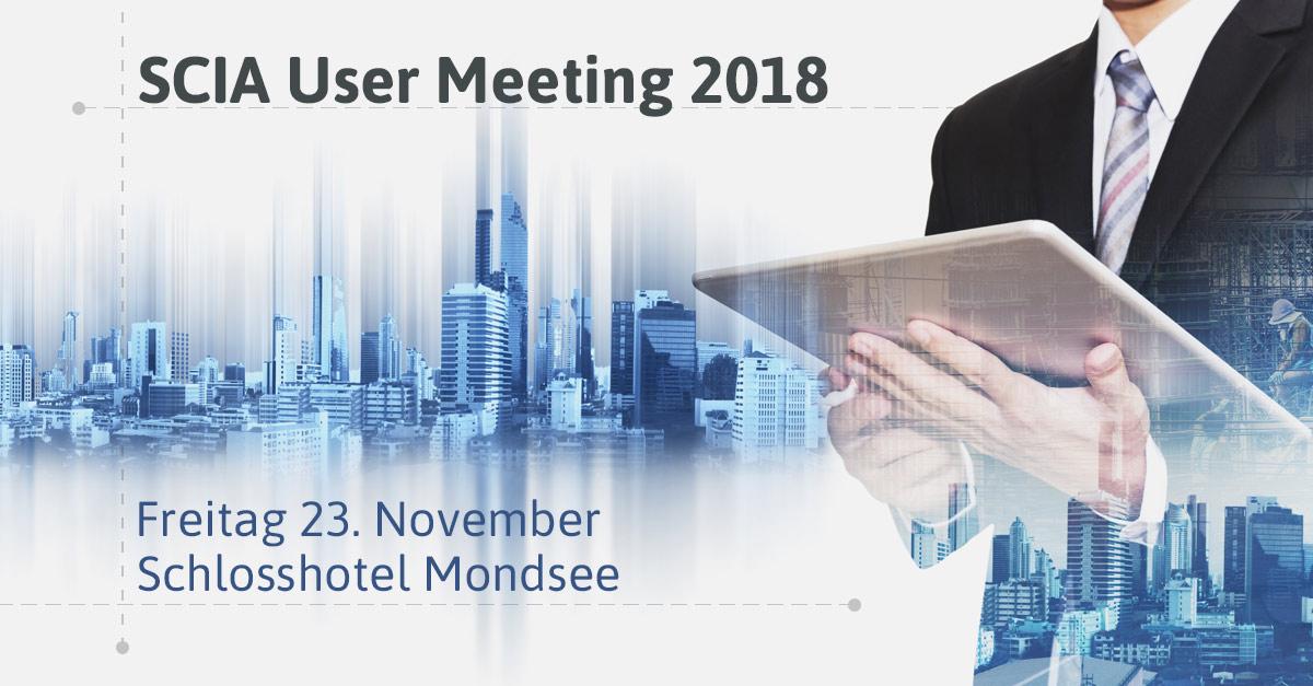 Langjährige Kunden treffen einander beim SCIA User Meeting 2018